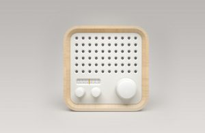 Cool little radio. This is a picture caption
